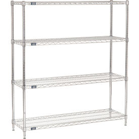 "63""H Nexel Chrome Wire Shelving - 48""W X 14""D"
