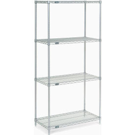 "86""H Nexel Chrome Wire Shelving - 36""W X 36""D"