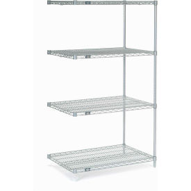 "63""H Nexel Chrome Wire Shelving Add-On - 48""W X 30""D"