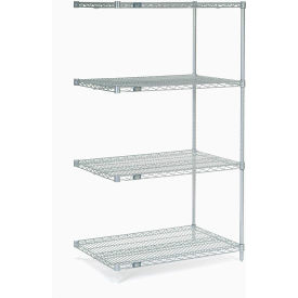 "63""H Nexel Chrome Wire Shelving Add-On - 48""W X 36""D"