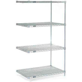 "63""H Nexel Chrome Wire Shelving Add-On - 60""W X 36""D"