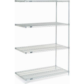 "74""H Nexel Chrome Wire Shelving Add-On - 72""W X 36""D"