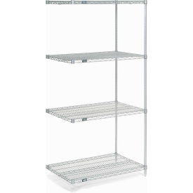 "86""H Nexel Chrome Wire Shelving Add-On - 48""W X 36""D"
