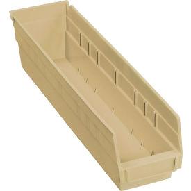 """Nesting Storage Bin - Plastic 4-1/8""""W x 17-7/8""""D x 4""""H Beige - Pkg Qty 12"""