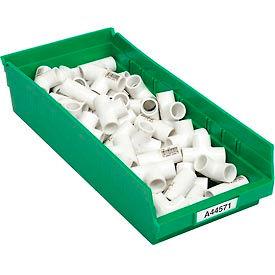 """Plastic Shelf Bin -  8-3/8""""W x 17-7/8"""" D x 4""""H Green - Pkg Qty 12"""