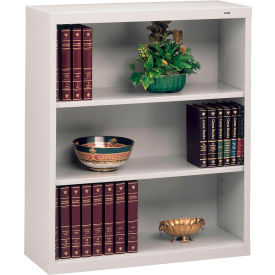 "Welded Steel Bookcase 40""H - Light Gray"