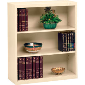 "Welded Steel Bookcase 40""H - Putty"