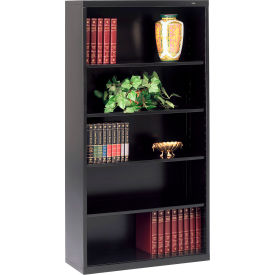 "Welded Steel Bookcase 66""H - Black"