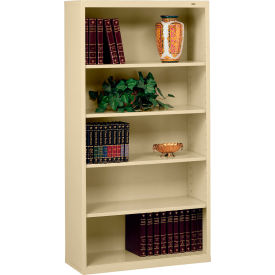 "Welded Steel Bookcase 66""H - Sand"