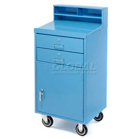 "23""W x 20""D Enclosed Mobile Shop Desk  -  Blue"