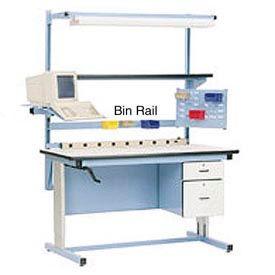 """72""""L Bin Rail for Workstation - Blue"""