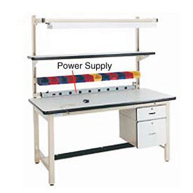 """72"""" L Power Supply with Mounting Rail - Beige"""