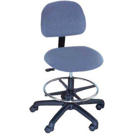 Task Stool - Vinyl - Low Back - Pneumatic - Blue