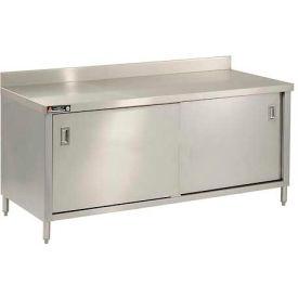 "Aero Manufacturing 2TSBOD-2472 72""W x 24""D Cabinet Workbench With Sliding Doors"