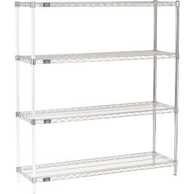 "54""H Nexel Chrome Wire Shelving Add-On - 54""W X 14""D"