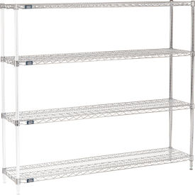 "54""H Nexel Chrome Wire Shelving Add-On - 72""W X 14""D"