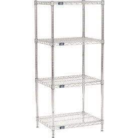 "54""H Nexel Chrome Wire Shelving - 24""W X 18""D"