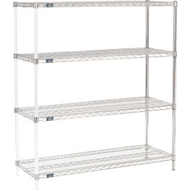 "54""H Nexel Chrome Wire Shelving Add-On - 48""W X 18""D"