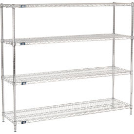"54""H Nexel Chrome Wire Shelving - 60""W X 18""D"