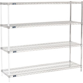 "54""H Nexel Chrome Wire Shelving Add-On - 72""W X 18""D"