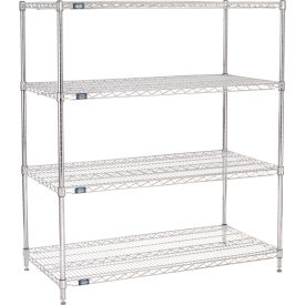 "54""H Nexel Chrome Wire Shelving - 54""W X 24""D"