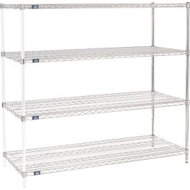 "54""H Nexel Chrome Wire Shelving Add-On - 72""W X 24""D"