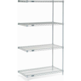"54""H Nexel Chrome Wire Shelving Add-On - 36""W X 30""D"