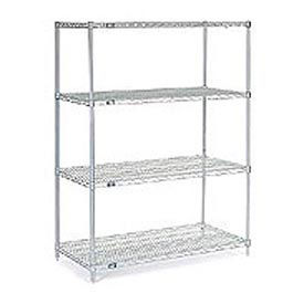 "54""H Nexel Chrome Wire Shelving - 48""W X 36""D"