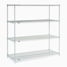 "54""H Nexel Chrome Wire Shelving - 60""W X 36""D"