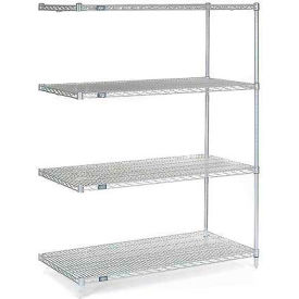 "54""H Nexel Chrome Wire Shelving Add-On - 72""W X 36""D"