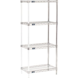 "63""H Nexel Chrome Wire Shelving Add-On - 24""W X 14""D"