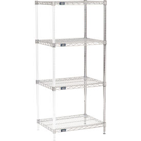 "63""H Nexel Chrome Wire Shelving Add-On - 30""W X 18""D"