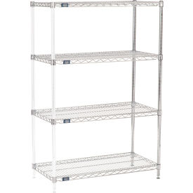 "63""H Nexel Chrome Wire Shelving Add-On - 42""W X 18""D"