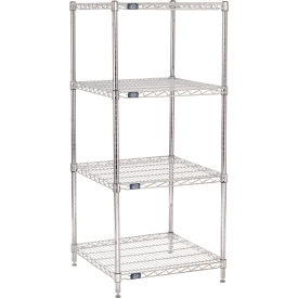 "63""H Nexel Chrome Wire Shelving - 24""W X 24""D"
