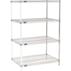 "63""H Nexel Chrome Wire Shelving Add-On - 42""W X 24""D"