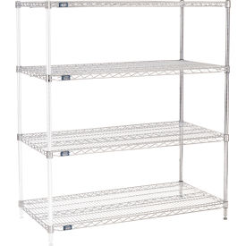 "63""H Nexel Chrome Wire Shelving Add-On - 54""W X 24""D"