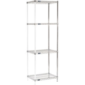 "74""H Nexel Chrome Wire Shelving Add-On - 30""W X 18""D"