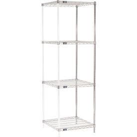 "74""H Nexel Chrome Wire Shelving Add-On - 24""W X 24""D"