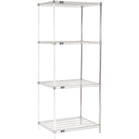 "74""H Nexel Chrome Wire Shelving Add-On - 30""W X 24""D"