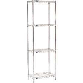"86""H Nexel Chrome Wire Shelving - 24""W X 14""D"