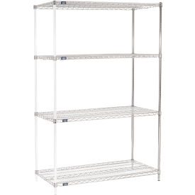 "86""H Nexel Chrome Wire Shelving Add-On - 54""W X 24""D"