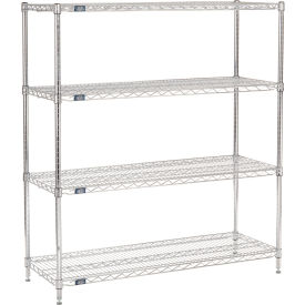 "63""H Nexel Chrome Wire Shelving - 48""W X 18""D, NSF Certified"