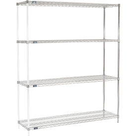 "74""H Nexel Chrome Wire Shelving Add-On - 72""W X 18""D"