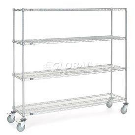 Nexel® Chrome Wire Shelf Truck 72x18x69 1200 Pound Capacity