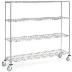 Nexel® Chrome Wire Shelf Truck 72x18x69 1200 Pound Capacity with Brakes