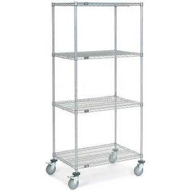 Nexel® Chrome Wire Shelf Truck 36x24x80 1200 Pound Capacity