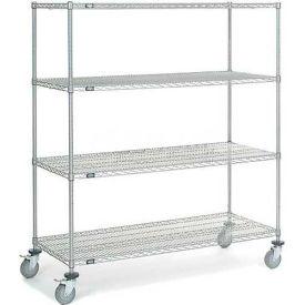 Nexel® Chrome Wire Shelf Truck 60 X 24 X 69 1200 Pound Capacity