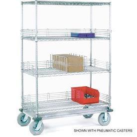 Nexel® Chrome Wire Shelf Truck 36x24x72 1200 Pound Capacity
