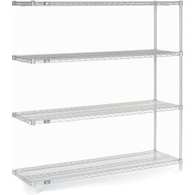 "Nexel Poly-Z-Brite Wire Shelving Add-On 60""W X 18""D X 63""H"