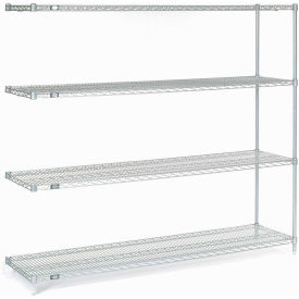 "Nexel Poly-Z-Brite Wire Shelving Add-On 72""W X 18""D X 63""H"